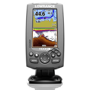 Lowrance HOOK-4 CHIRP DownScan with BaseMap   Fish Finders